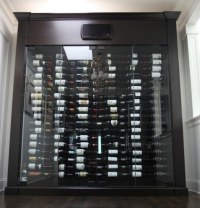 West Vancouver Custom Glass Wine Cabinet - Blue Grouse ...
