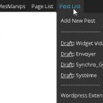 Worpresss: Extension Page List & Post List Toolbar