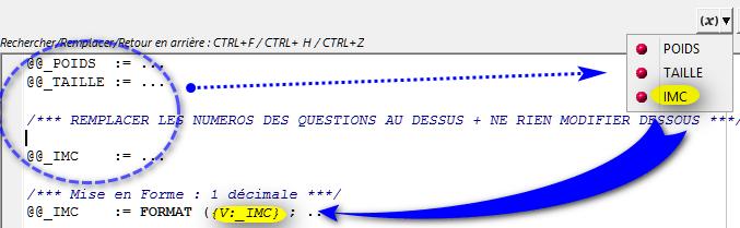 Médycs: TAILLE - Valeur par défaut (Utilisation des variables @@_)