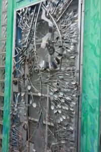 The kitchen utensil door