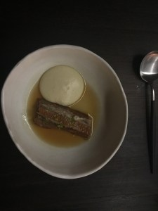 Pork tail with fennel puree