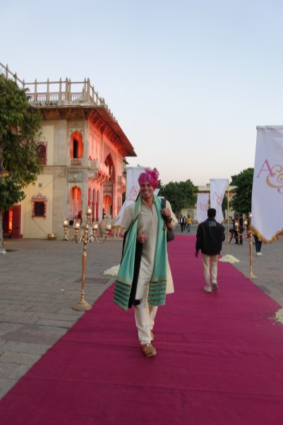 Male guest at wedding Jaipur City Palace