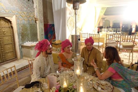 Wedding guests Jaipur City Palace