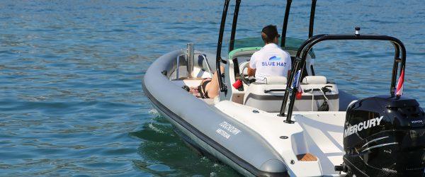 blue hat boat rental airship 288 1