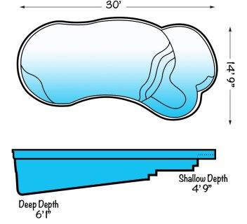 blue hawaiian pools eclipse pool shell
