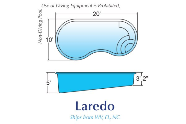 InGround Fiberglass Swimming Pools for Sale in Michigan Laredo01