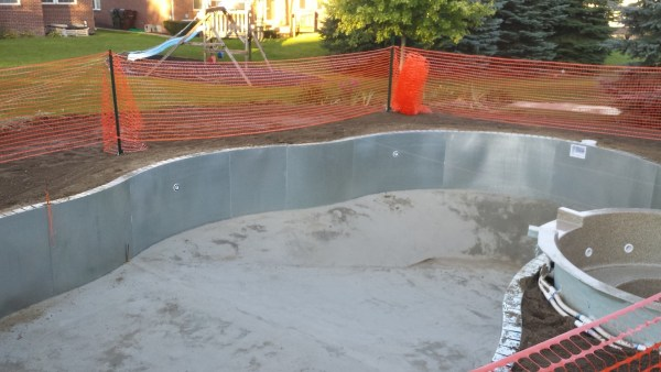 inground vinyl liner swimming pool Shelby twp. Michigan