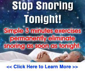 Stop Snoring Exercise Program