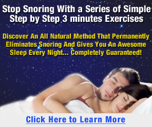 Stop Snoring Special Banner