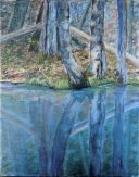 Spring Reflection #1, Acrylic on Canvas, 14 x 11 inches, Copyright Wendie Donabie