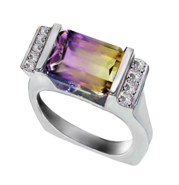 Ametrine Quartz Ring