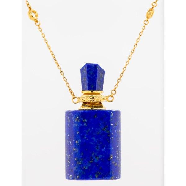 Lapis Lazuli Rectangle Aromatherapy Pendant