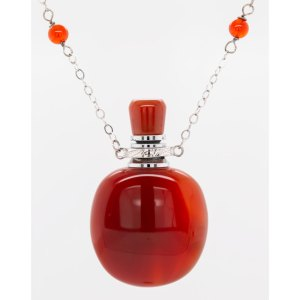 Red Agate Oval Aromatherapy Pendant