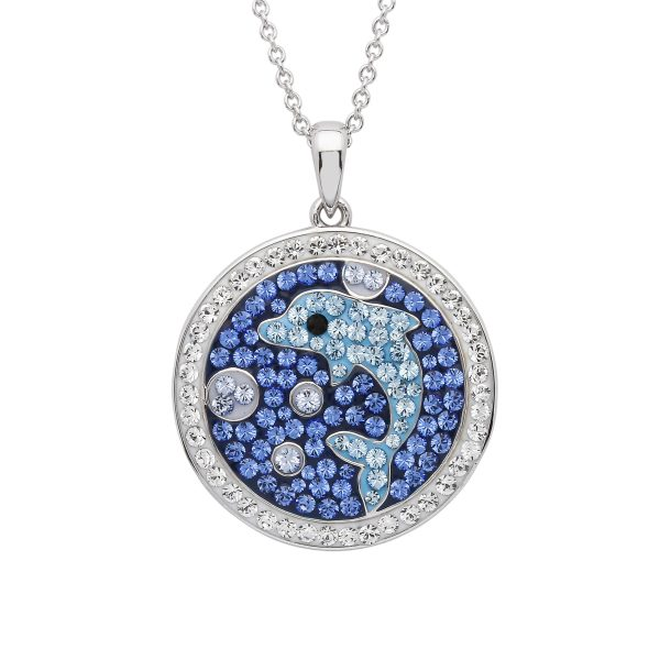 Dolphin Mosaic Necklace