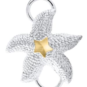 Starfish Convertible Clasp with Yellow Gold Accent