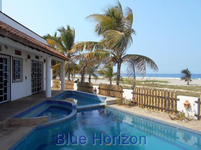 Beachfront House Puerto Escondido Blue Horizon Real
