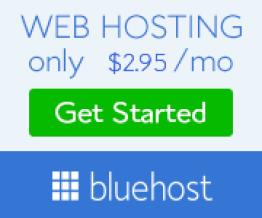 Blue host web hosting get started for only $3.95 per month