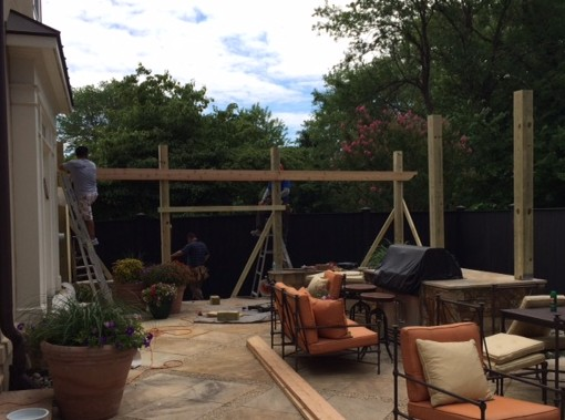 Photo of pergola construction