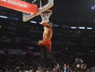 Mitchell Outduels Oladipo and Others in Dunk Contest