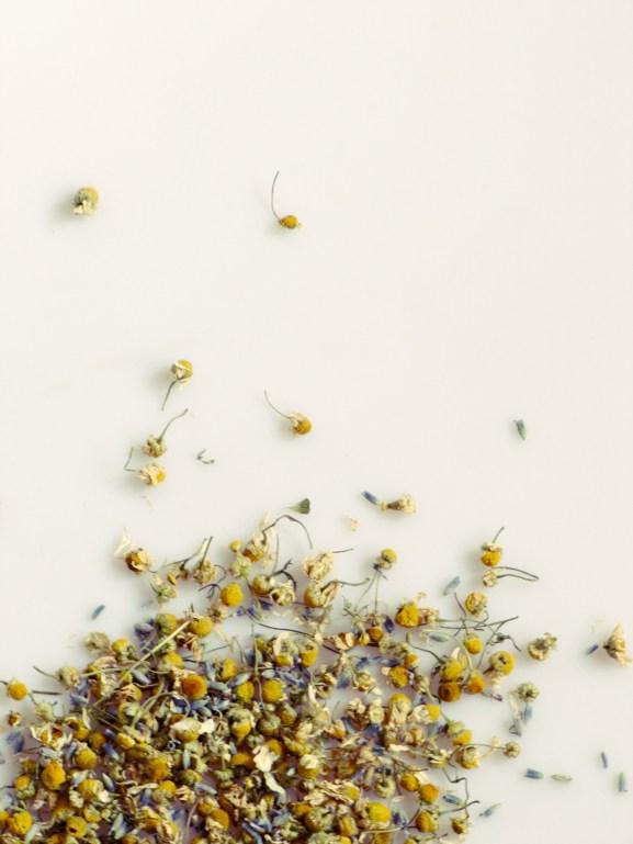 Lavender and chamomile tisane