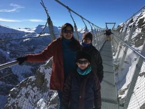 On the Titlis Cliff Walk, the World's Scariest Bridge