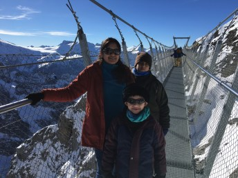 On the Titlis Cliff Walk, the World's Scariest Bridge