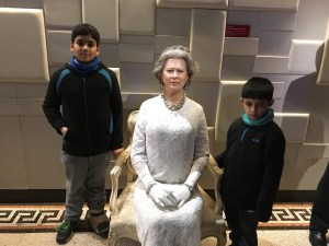 With the Queen at Grevin Wax Museum