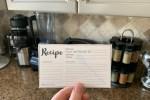 Recipe Card From Bluejean Corner