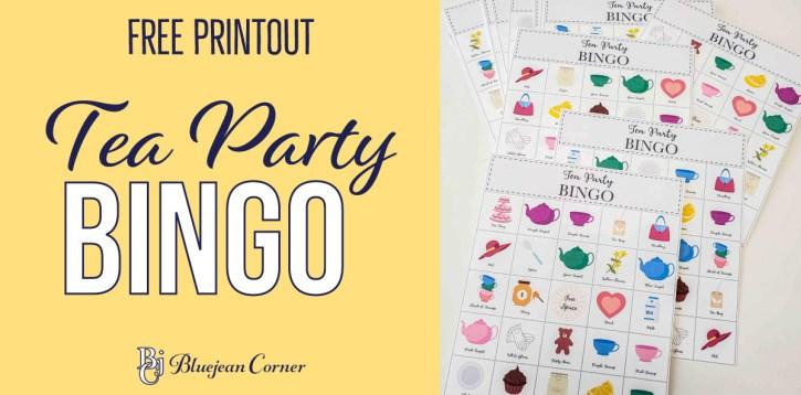 Tea Party Bingo – Free Printout
