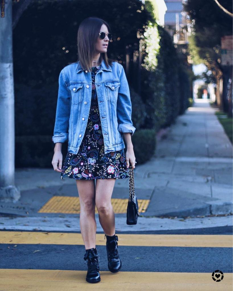 Mini dresses and Moto boots all day liketoknowit liketkit httpliketkit2trbV