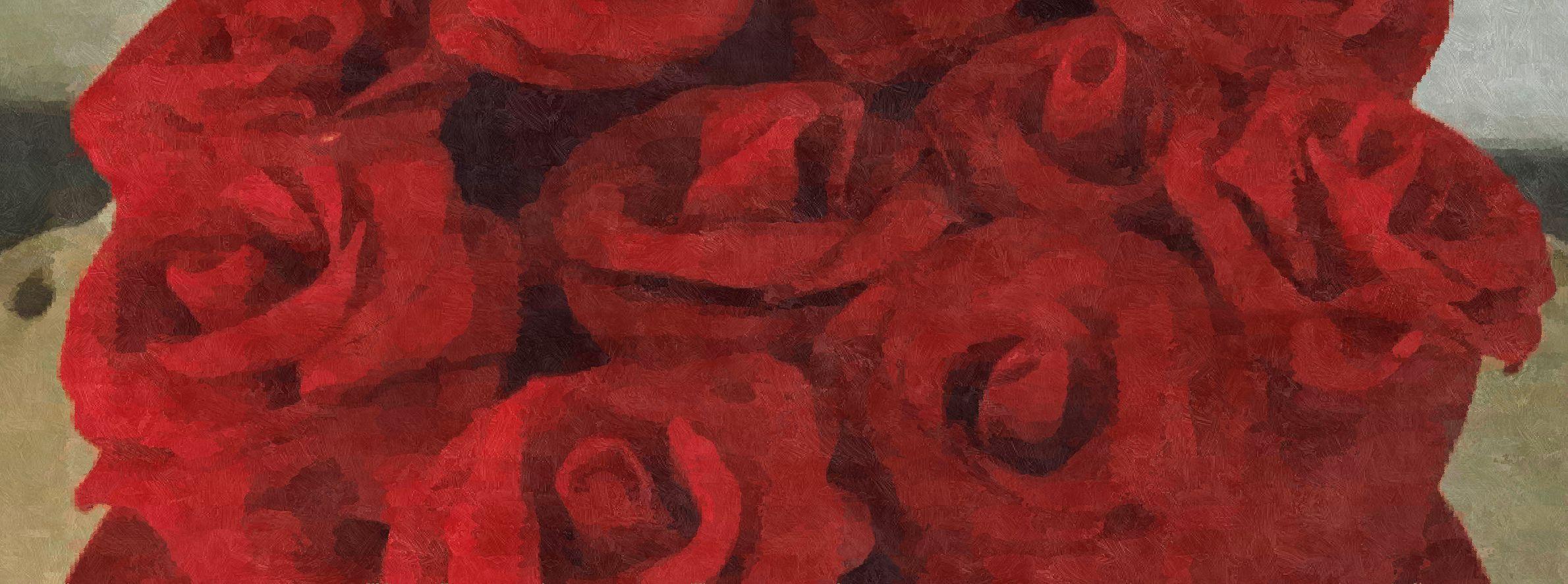 Romántico corazón de rosas