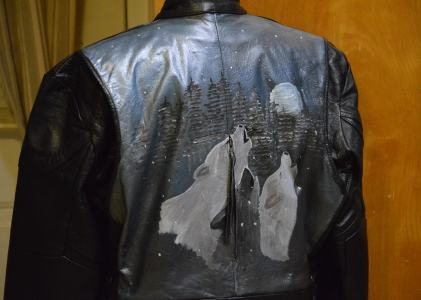 Some 2014 Art Painted Leather Garments