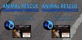 0LR-Rescue Car Magnet - Blue