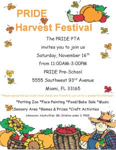 PRIDE Harvest Festival @ PRIDE Pre-School   Miami   Florida   United States