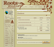 Roots Woodcraft - Checkout