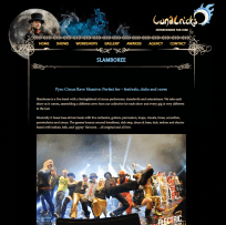 Entertainment website Show page