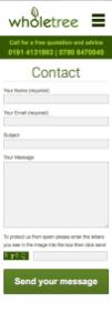 responsive design - mobile contact