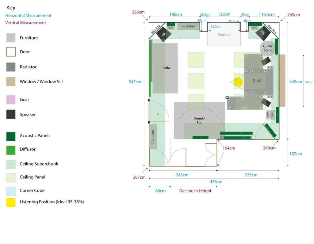 Studio Room Plan