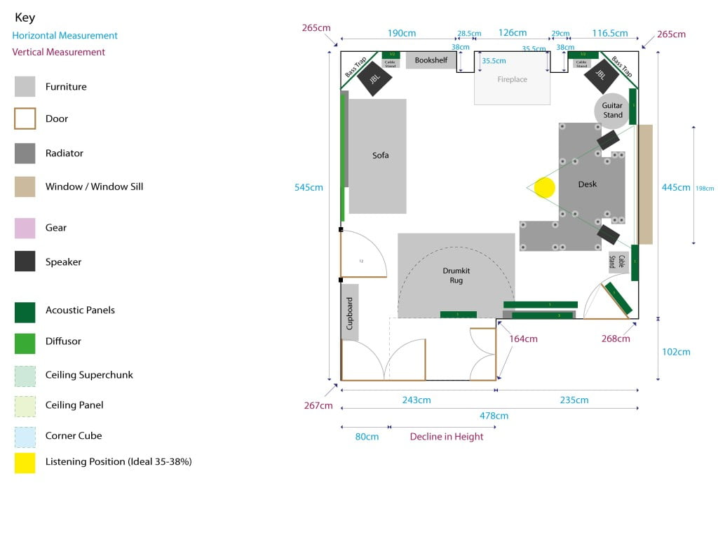 Studio Room Plan No Cloud