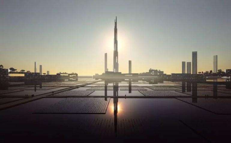 Projekt najwyższego budynku Sky Mile Tower