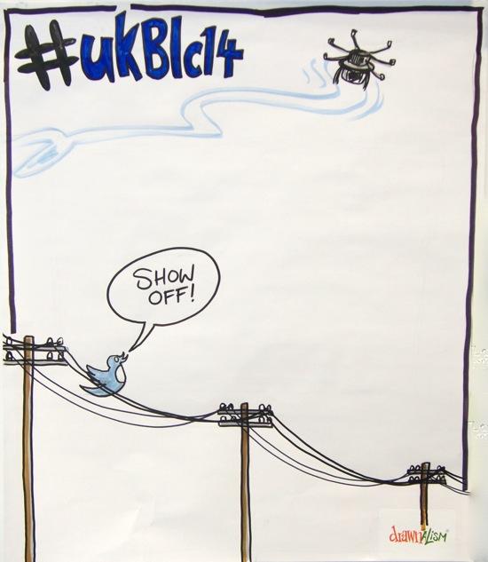 Drawnalism drone tweet