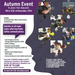 Poster for British APCO's Autumn event