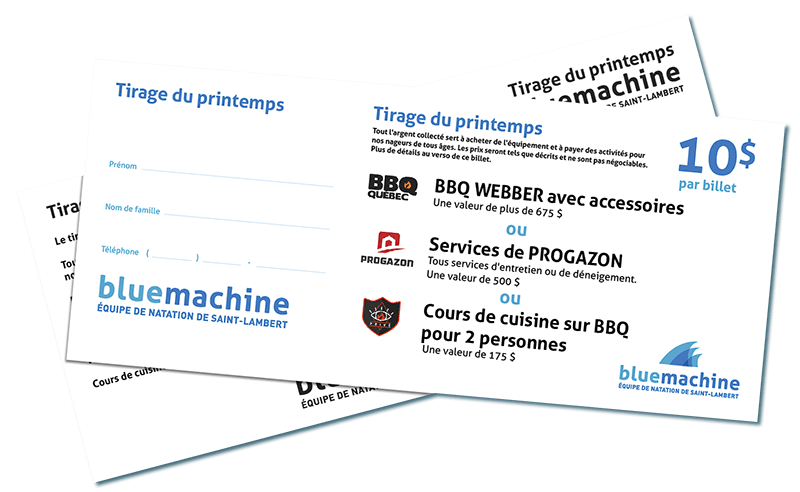 Tirage du Printemps Blue Machine
