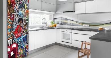 samolepky na lednici