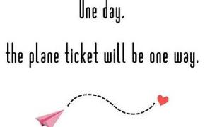 One way ticket cover photo
