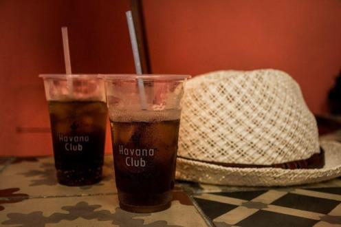 Two glases of Cuba Libre in Havana museum