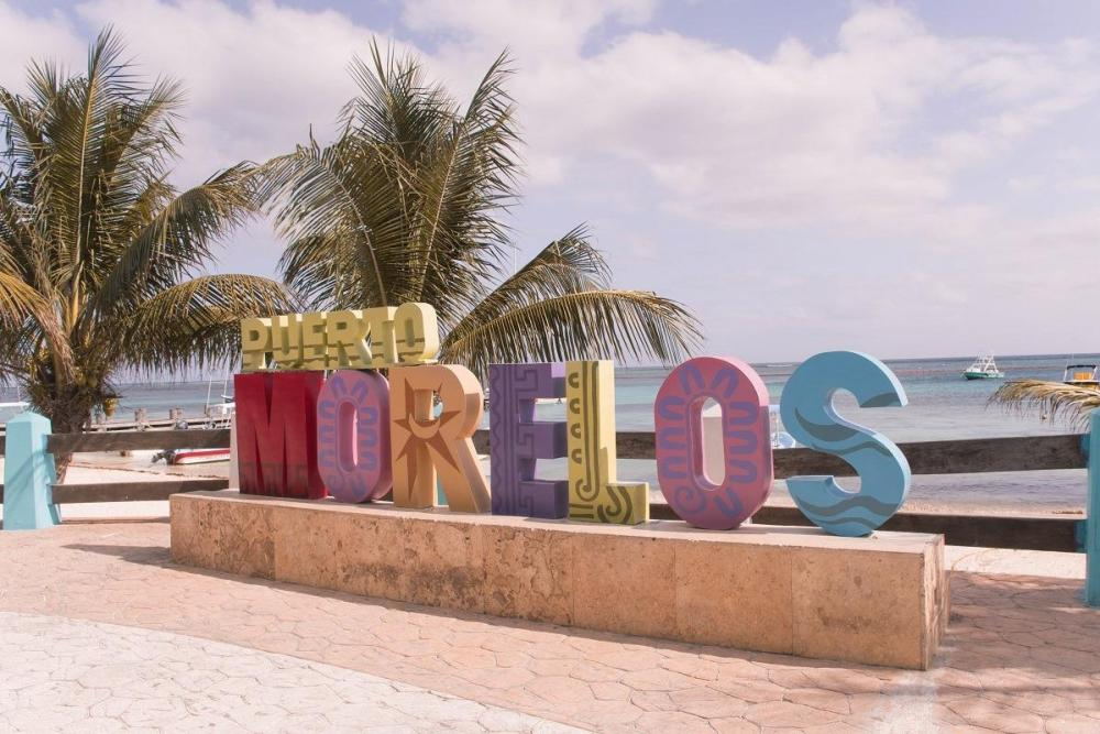 Colorful statue of Puerto Morelos