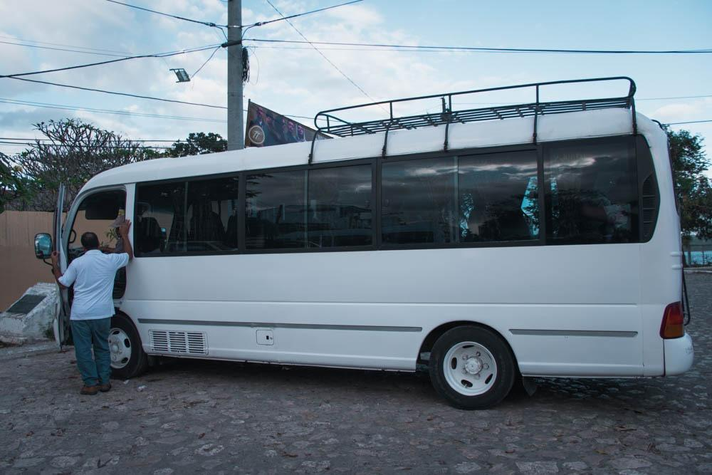 Shuttle which took us to Tikal