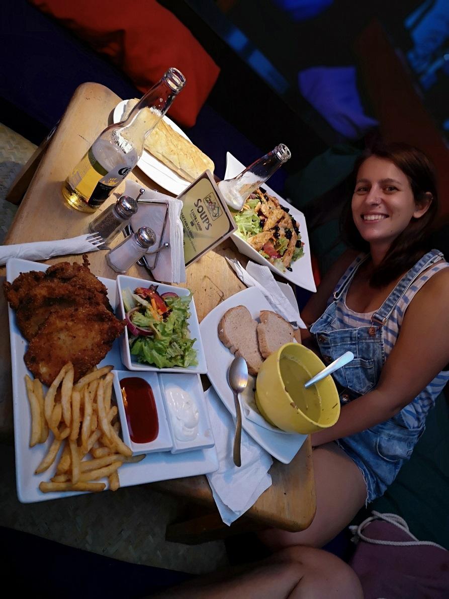 Dinner at Zoola, Antigua