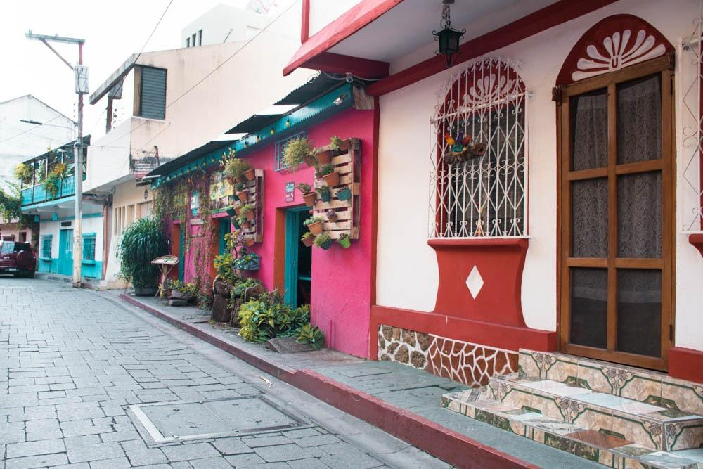Colorful streets of Flores (14 day Guatemala itinerary)